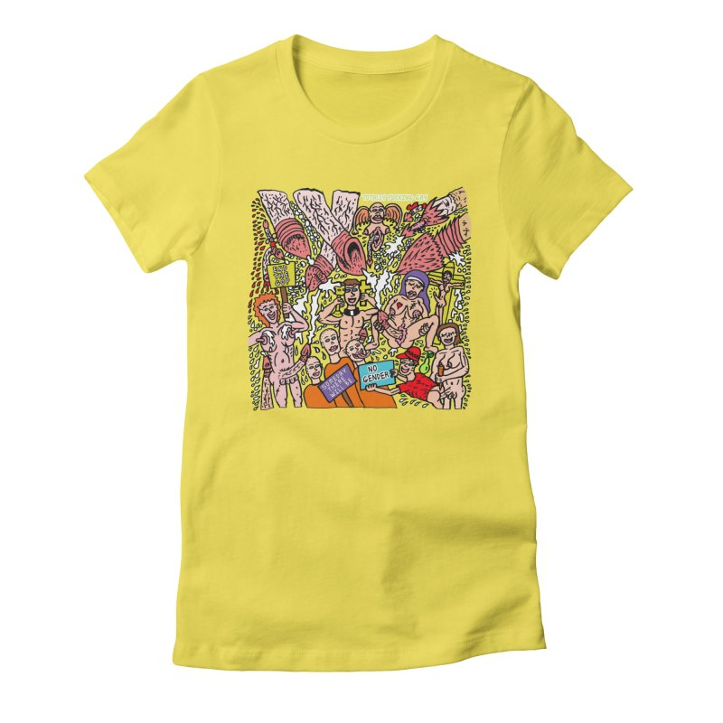 TFG - Someday There Will Be No Gender Women's Fitted T-Shirt by Mike Diana T-Shirts Mugs and More!