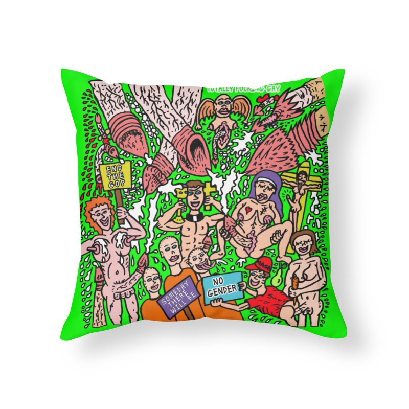 TFG - Someday There Will Be No Gender Home Throw Pillow by Mike Diana T-Shirts Mugs and More!