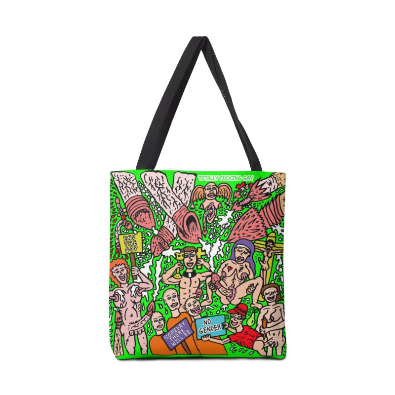 TFG - Someday There Will Be No Gender Accessories Tote Bag Bag by Mike Diana T-Shirts Mugs and More!