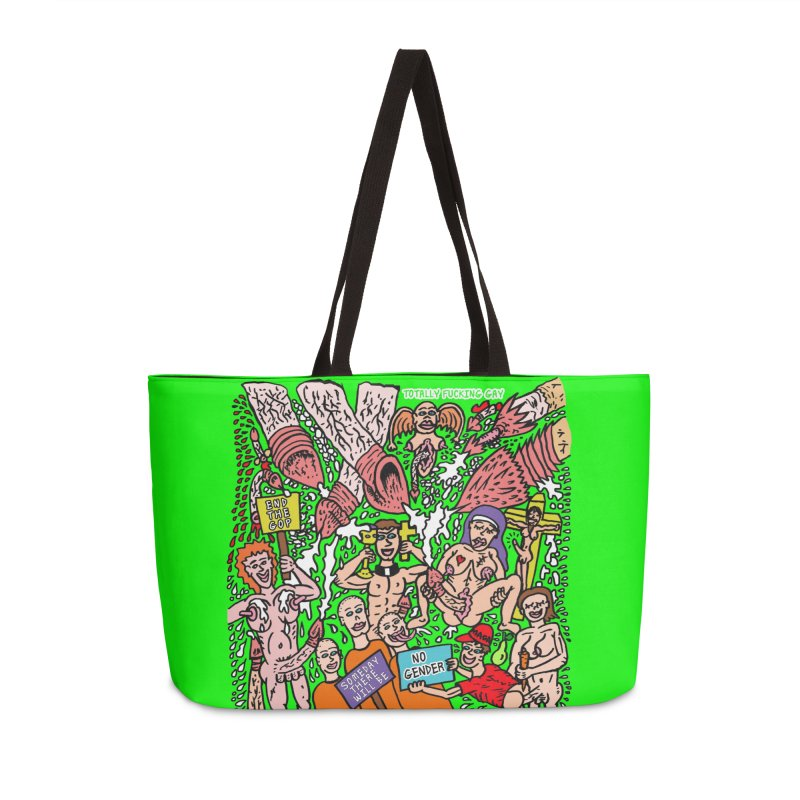 TFG - Someday There Will Be No Gender Accessories Weekender Bag Bag by Mike Diana T-Shirts Mugs and More!