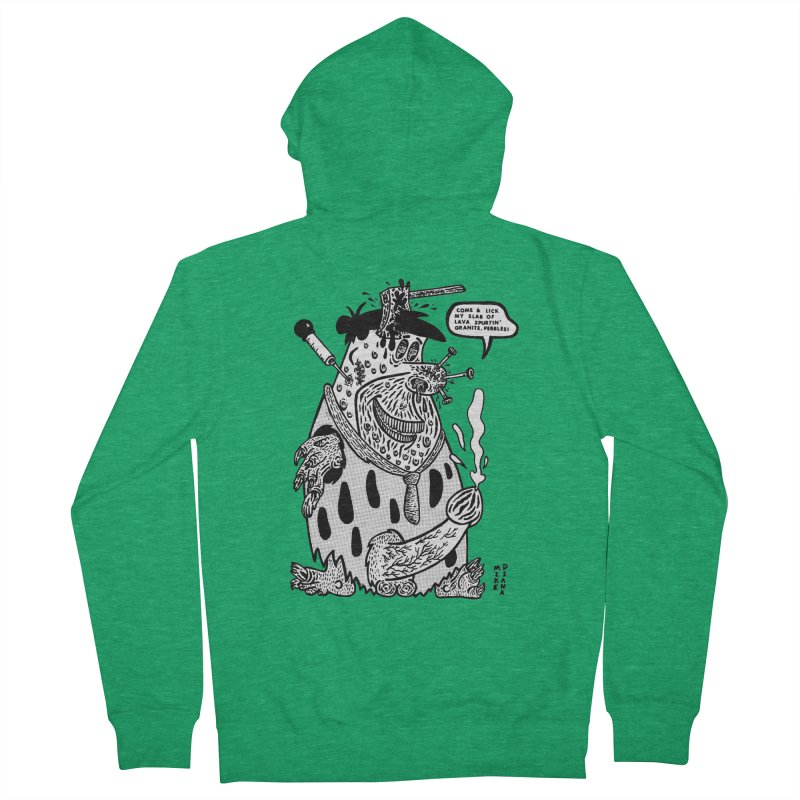 Boiled Angel Fred - BW Women's French Terry Zip-Up Hoody by Mike Diana T-Shirts Mugs and More!