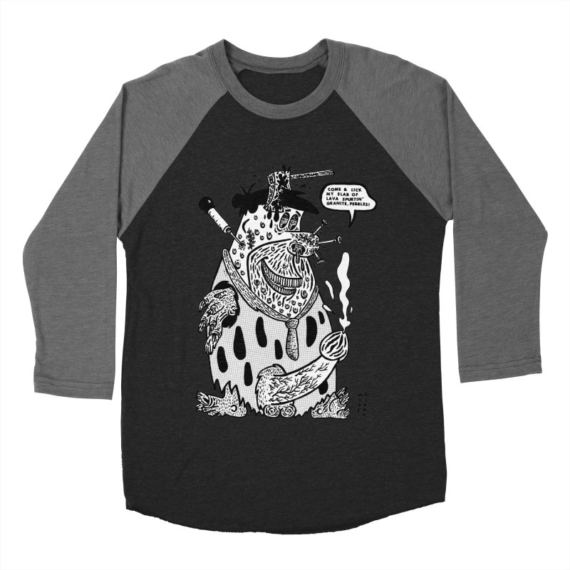 Boiled Angel Fred - BW Women's Baseball Triblend Longsleeve T-Shirt by Mike Diana T-Shirts Mugs and More!