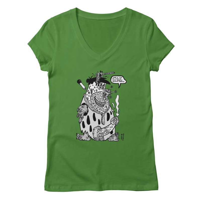 Boiled Angel Fred - BW Women's Regular V-Neck by Mike Diana T-Shirts Mugs and More!