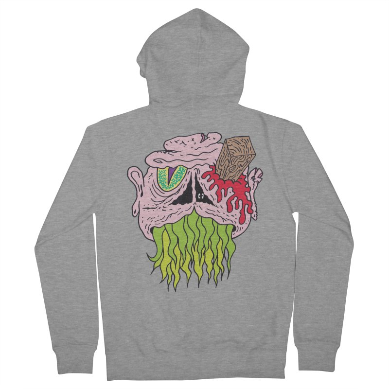 Slithers Women's Zip-Up Hoody by Mike Diana T-Shirts! Horrible Ugly Heads Limited E
