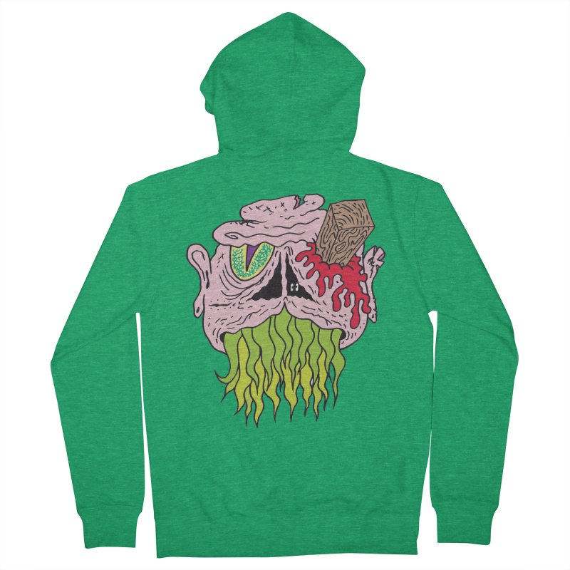 Slithers Men's Zip-Up Hoody by Mike Diana T-Shirts! Horrible Ugly Heads Limited E