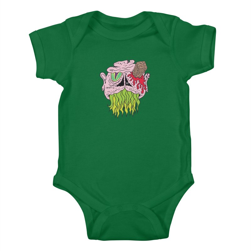 Slithers Kids Baby Bodysuit by Mike Diana T-Shirts! Horrible Ugly Heads Limited E