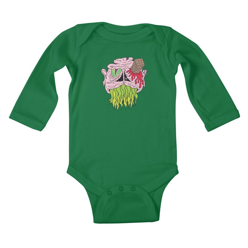 Slithers Kids Baby Longsleeve Bodysuit by Mike Diana T-Shirts! Horrible Ugly Heads Limited E