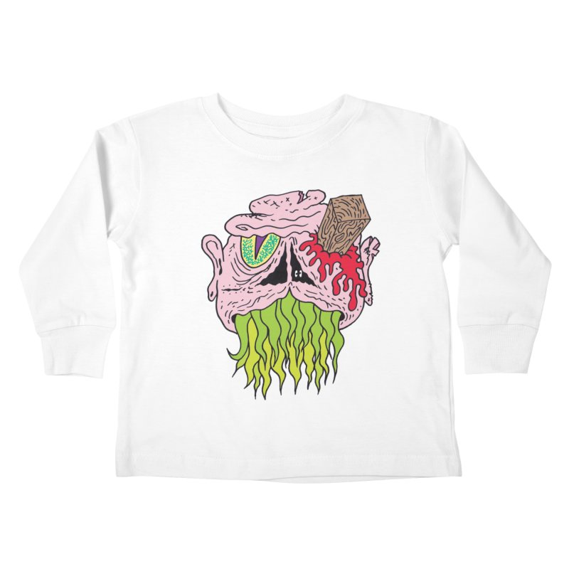Slithers Kids Toddler Longsleeve T-Shirt by Mike Diana T-Shirts! Horrible Ugly Heads Limited E