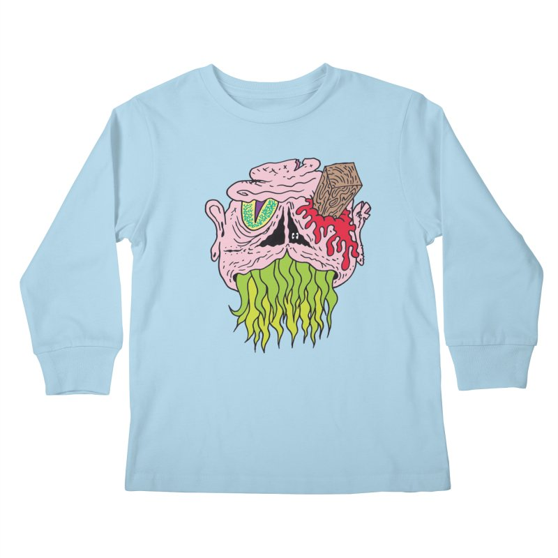 Slithers Kids Longsleeve T-Shirt by Mike Diana T-Shirts! Horrible Ugly Heads Limited E