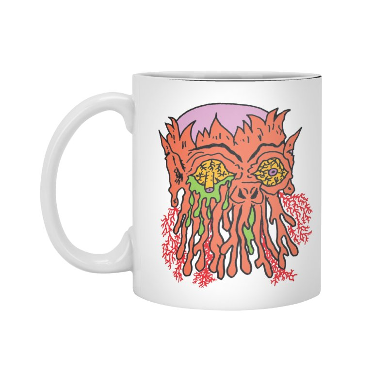 Uncle Melty Accessories Mug by Mike Diana T-Shirts! Horrible Ugly Heads Limited E