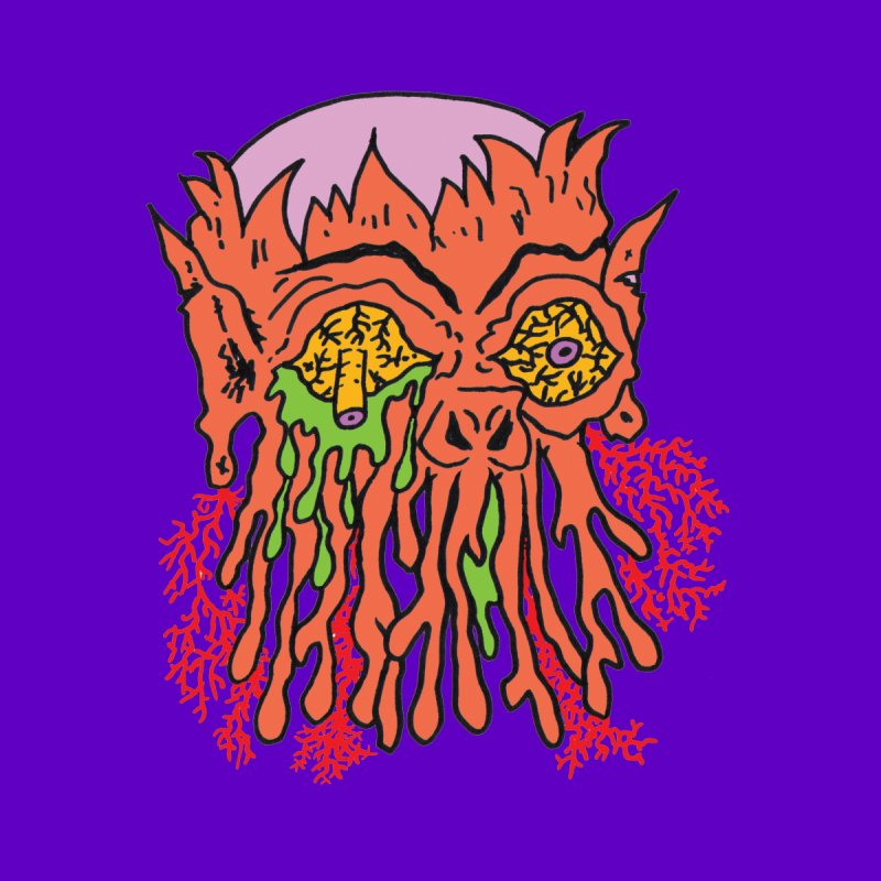 Uncle Melty None  by Mike Diana T-Shirts! Horrible Ugly Heads Limited E