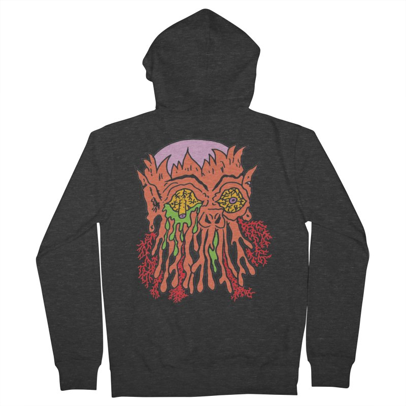 Uncle Melty Women's Zip-Up Hoody by Mike Diana T-Shirts! Horrible Ugly Heads Limited E