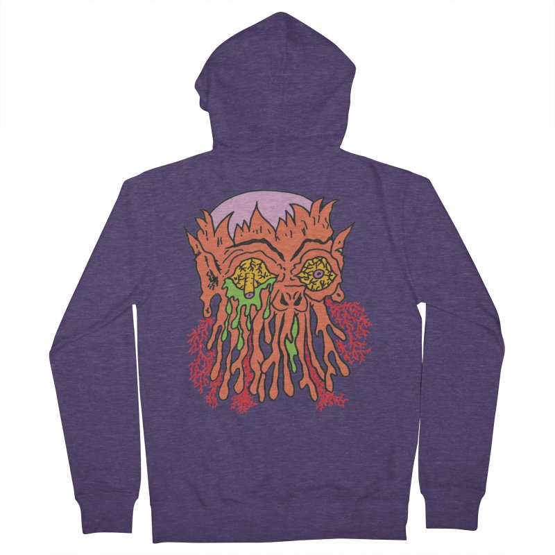 Uncle Melty Men's Zip-Up Hoody by Mike Diana T-Shirts! Horrible Ugly Heads Limited E