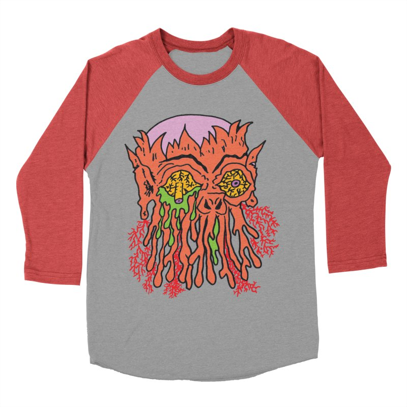 Uncle Melty Men's Baseball Triblend T-Shirt by Mike Diana T-Shirts! Horrible Ugly Heads Limited E