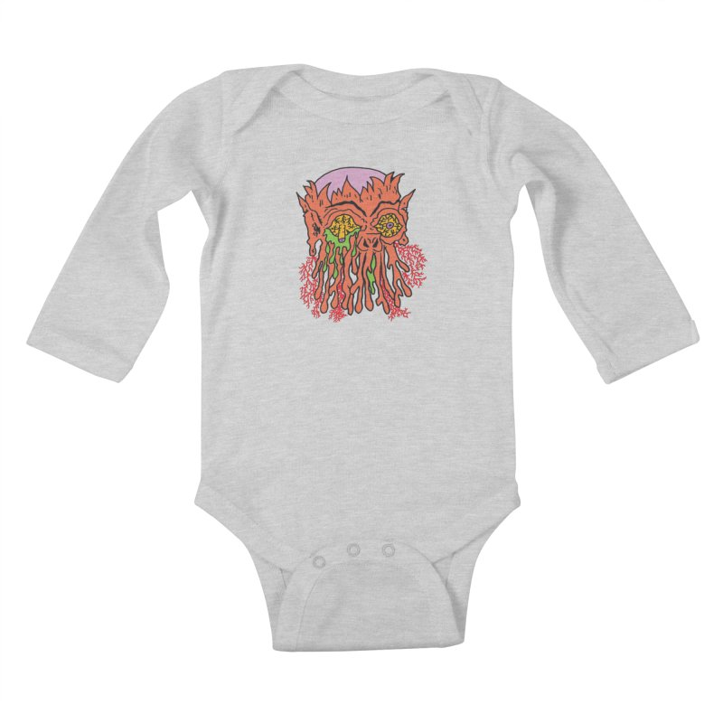 Uncle Melty Kids Baby Longsleeve Bodysuit by Mike Diana T-Shirts! Horrible Ugly Heads Limited E