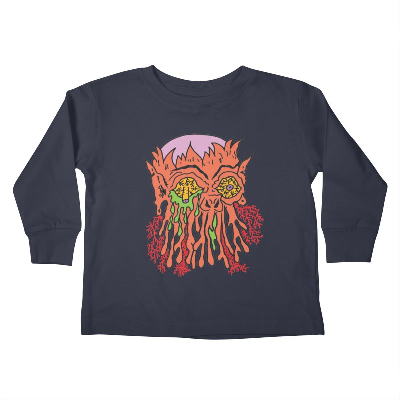 Uncle Melty Kids Toddler Longsleeve T-Shirt by Mike Diana T-Shirts! Horrible Ugly Heads Limited E