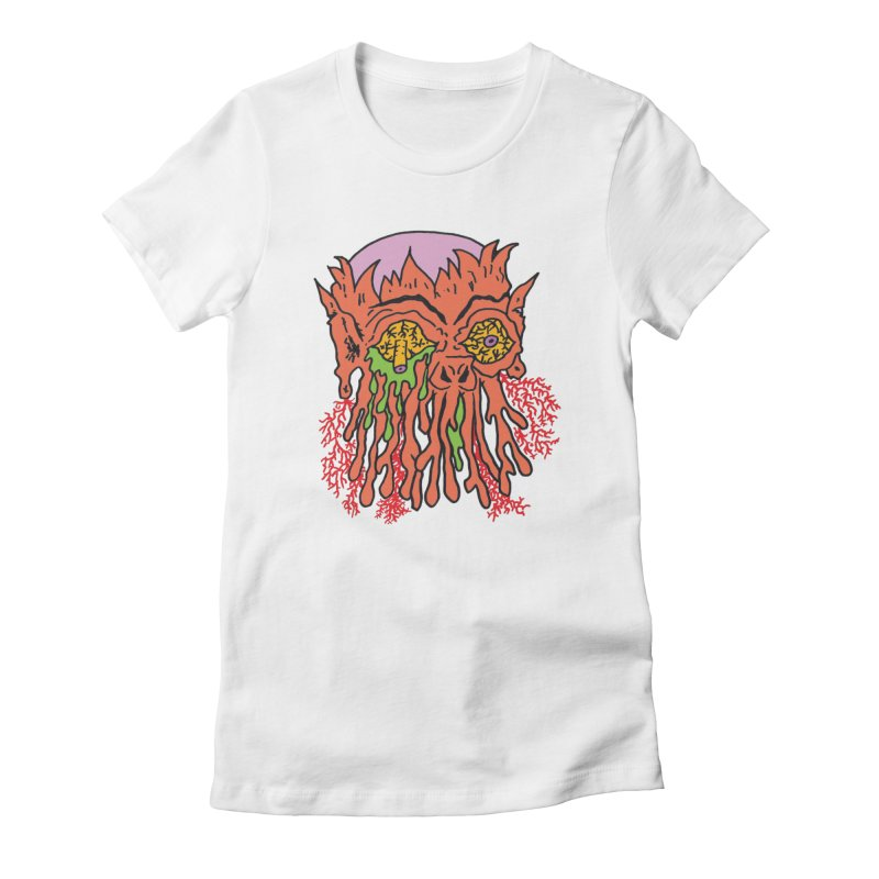 Uncle Melty Women's Fitted T-Shirt by Mike Diana T-Shirts! Horrible Ugly Heads Limited E