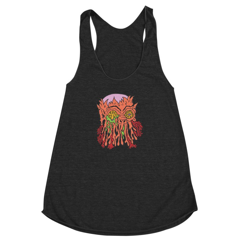 Uncle Melty Women's Racerback Triblend Tank by Mike Diana T-Shirts! Horrible Ugly Heads Limited E
