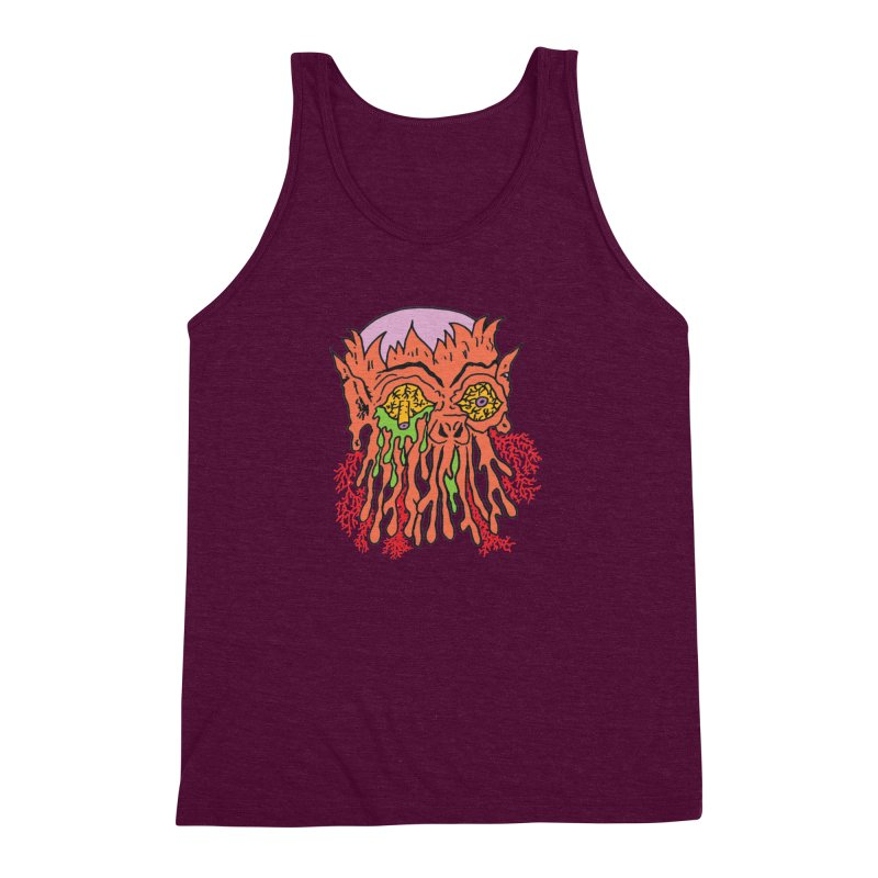 Uncle Melty Men's Triblend Tank by Mike Diana T-Shirts! Horrible Ugly Heads Limited E