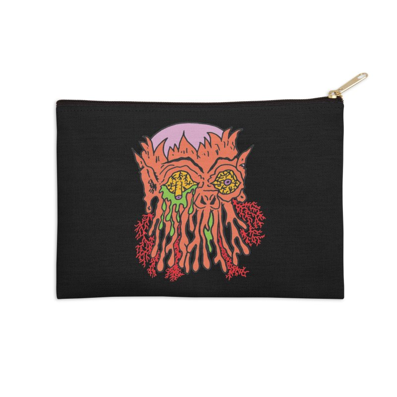 Uncle Melty Accessories Zip Pouch by Mike Diana T-Shirts! Horrible Ugly Heads Limited E