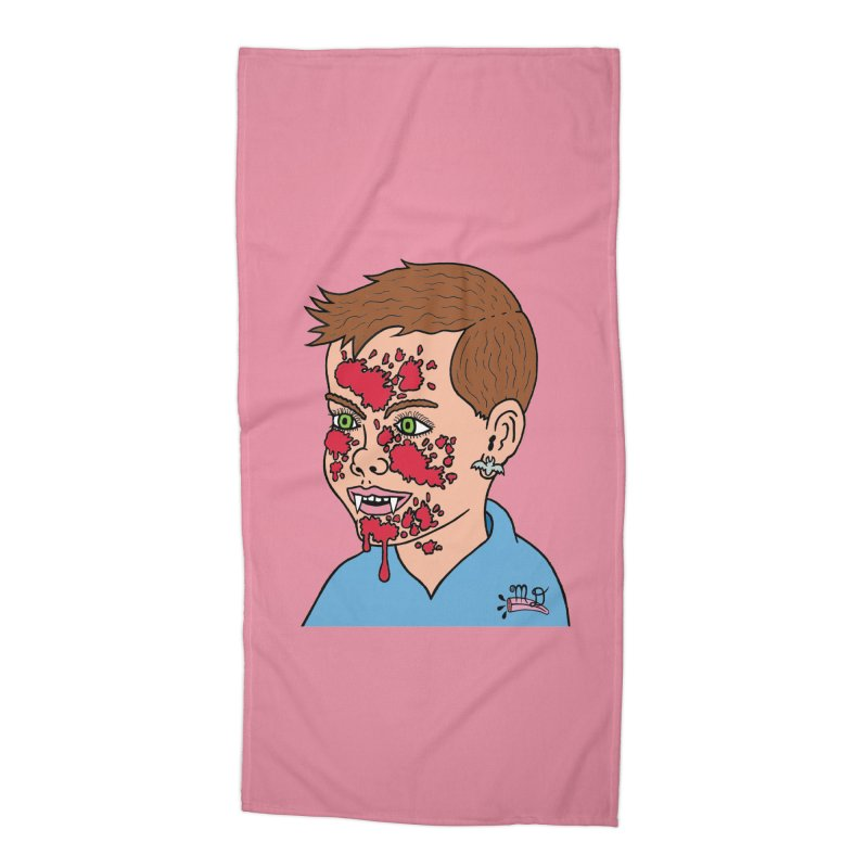 Vampire Kid Accessories Beach Towel by Mike Diana T-Shirts! Horrible Ugly Heads Limited E