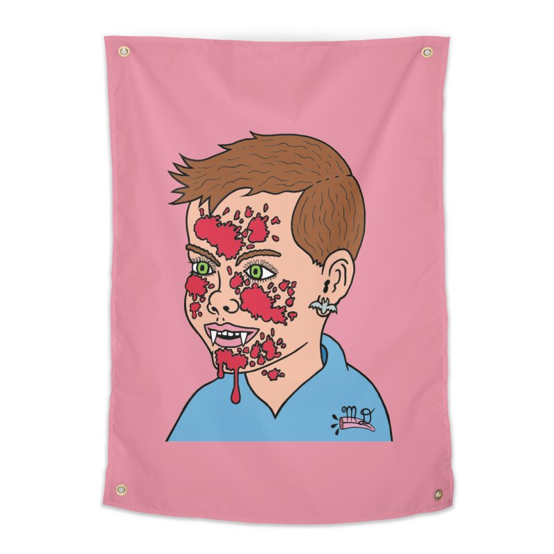 Vampire Kid Home Tapestry by Mike Diana T-Shirts! Horrible Ugly Heads Limited E