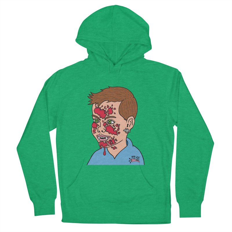 Vampire Kid Women's Pullover Hoody by Mike Diana T-Shirts! Horrible Ugly Heads Limited E