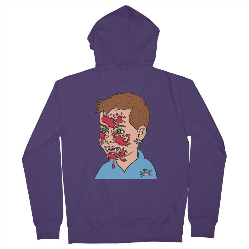 Vampire Kid Women's Zip-Up Hoody by Mike Diana T-Shirts! Horrible Ugly Heads Limited E
