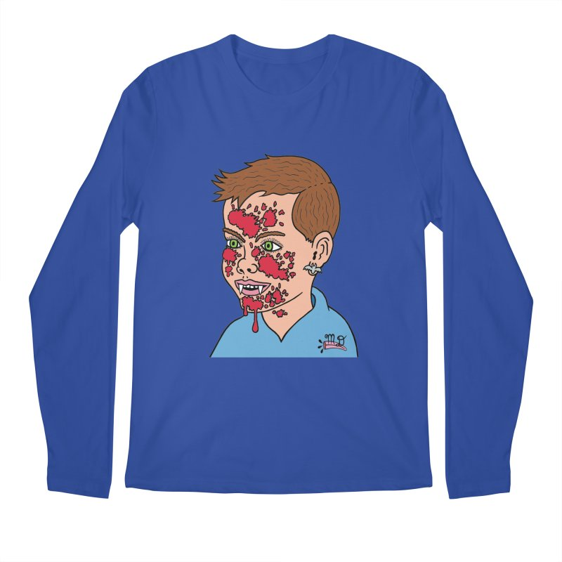 Vampire Kid Men's Longsleeve T-Shirt by Mike Diana T-Shirts! Horrible Ugly Heads Limited E