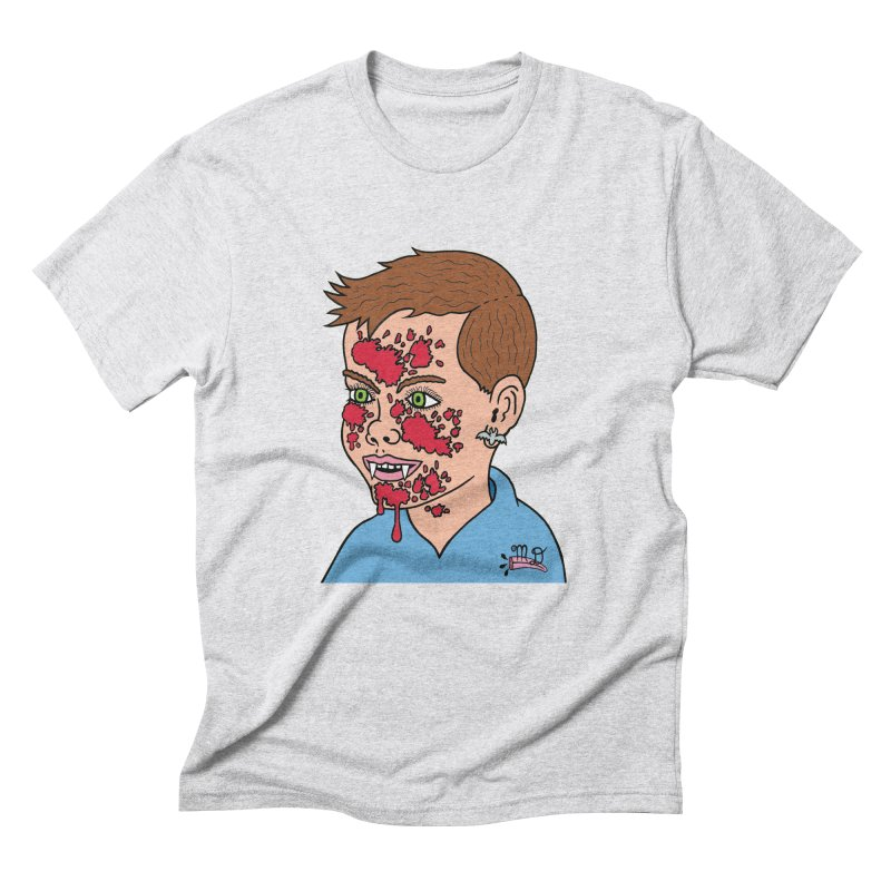Vampire Kid Men's Triblend T-shirt by Mike Diana T-Shirts! Horrible Ugly Heads Limited E