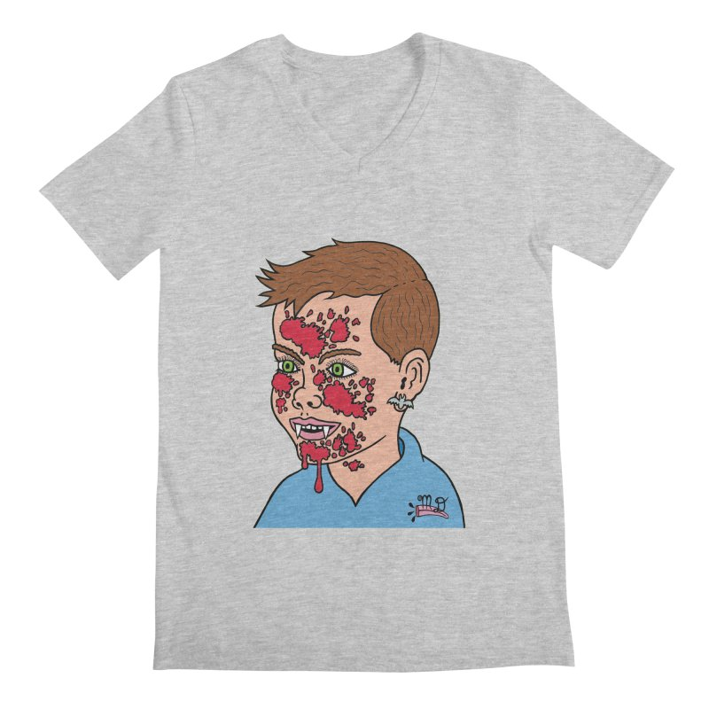 Vampire Kid Men's V-Neck by Mike Diana T-Shirts! Horrible Ugly Heads Limited E