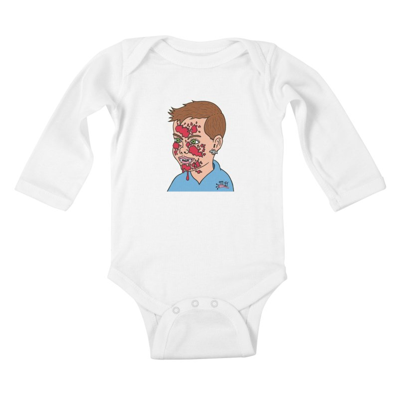 Vampire Kid Kids Baby Longsleeve Bodysuit by Mike Diana T-Shirts! Horrible Ugly Heads Limited E
