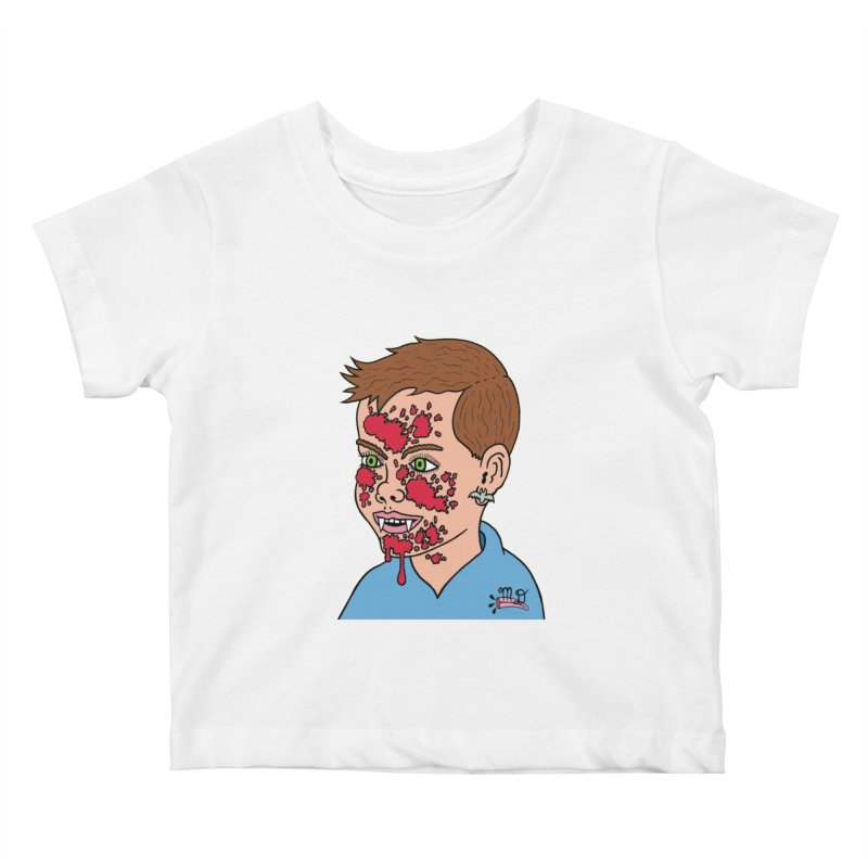 Vampire Kid Kids Baby T-Shirt by Mike Diana T-Shirts! Horrible Ugly Heads Limited E