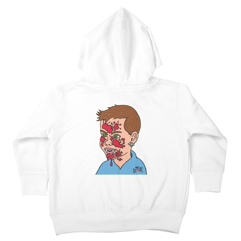 Vampire Kid Kids Toddler Zip-Up Hoody by Mike Diana T-Shirts! Horrible Ugly Heads Limited E