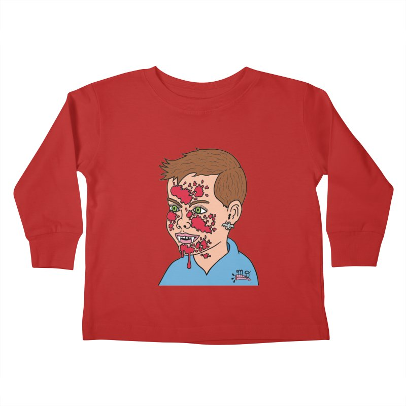 Vampire Kid Kids Toddler Longsleeve T-Shirt by Mike Diana T-Shirts! Horrible Ugly Heads Limited E