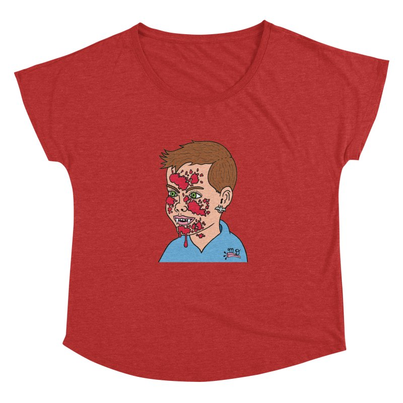 Vampire Kid Women's Dolman by Mike Diana T-Shirts! Horrible Ugly Heads Limited E