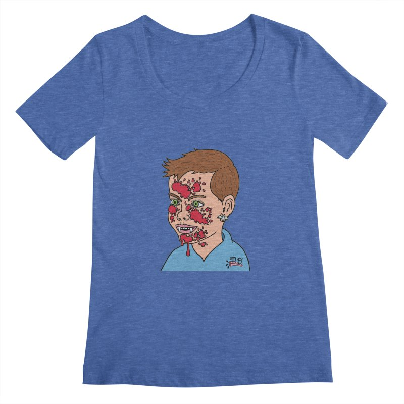 Vampire Kid Women's Scoopneck by Mike Diana T-Shirts! Horrible Ugly Heads Limited E