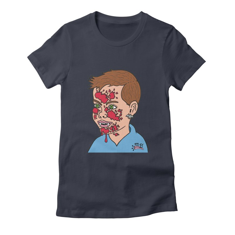 Vampire Kid Women's Fitted T-Shirt by Mike Diana T-Shirts! Horrible Ugly Heads Limited E