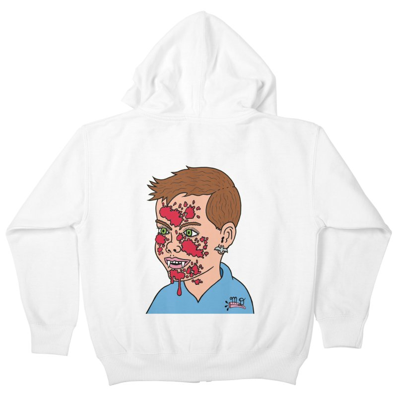 Vampire Kid Kids Zip-Up Hoody by Mike Diana T-Shirts! Horrible Ugly Heads Limited E
