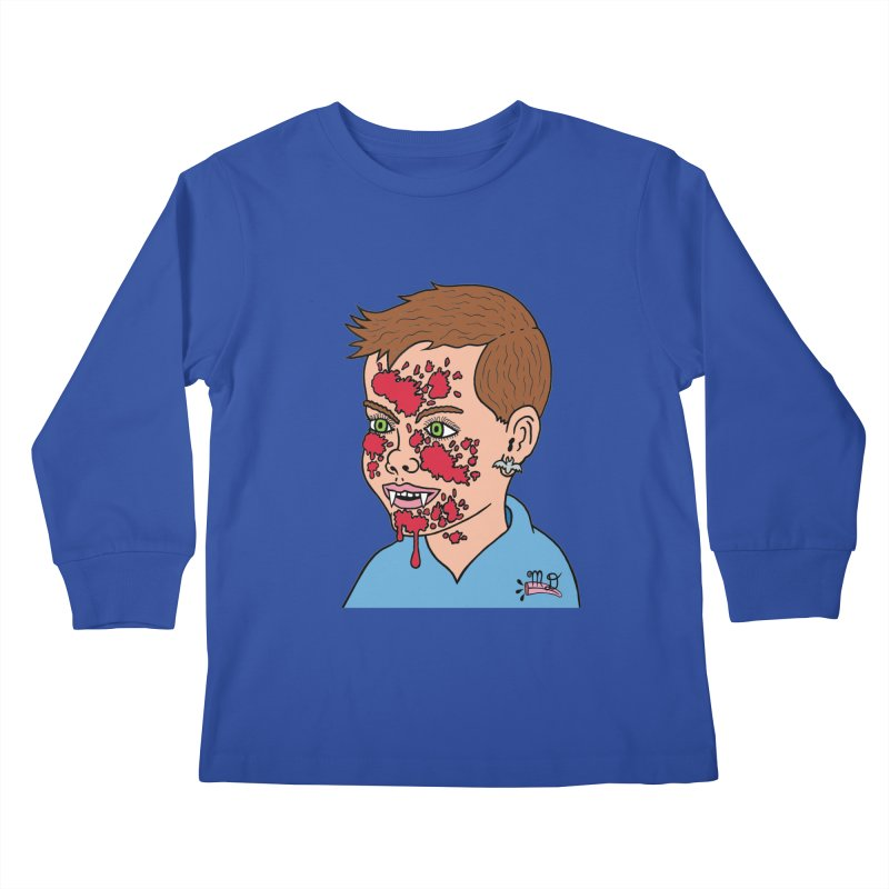 Vampire Kid Kids Longsleeve T-Shirt by Mike Diana T-Shirts! Horrible Ugly Heads Limited E