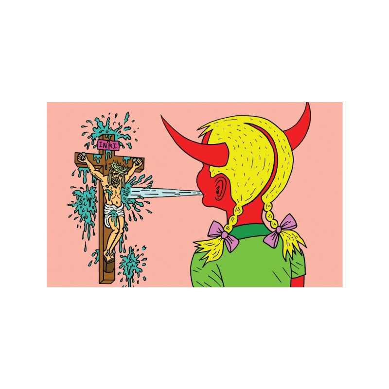 Devil Girl Spit Face Mask Accessories Face Mask by Mike Diana Threadless