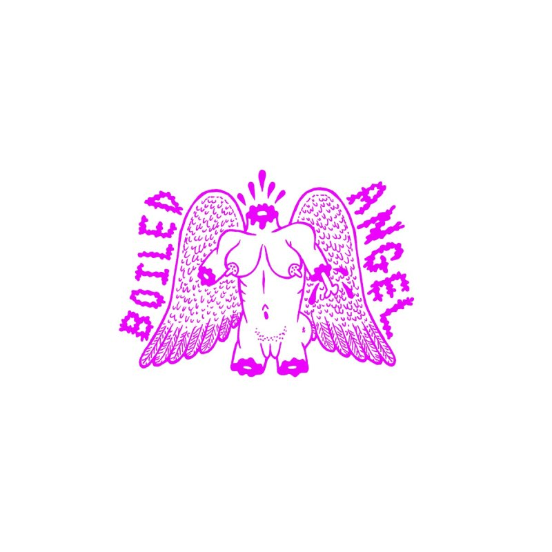Boiled Angel Lives Purple Facemask Accessories Face Mask by Mike Diana Threadless