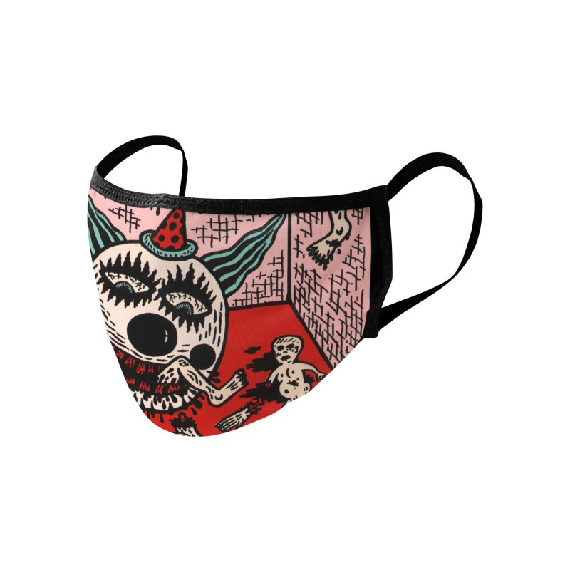 Cherry Bomb Revolution Back Face Mask Accessories Face Mask by Mike Diana Threadless