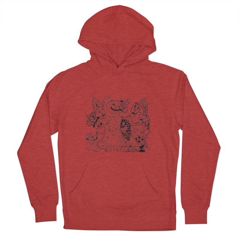 Half-Dead Freak Men's Pullover Hoody by Mike Diana T-Shirts! Horrible Ugly Heads Limited E