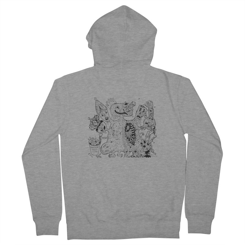 Half-Dead Freak Women's Zip-Up Hoody by Mike Diana T-Shirts! Horrible Ugly Heads Limited E