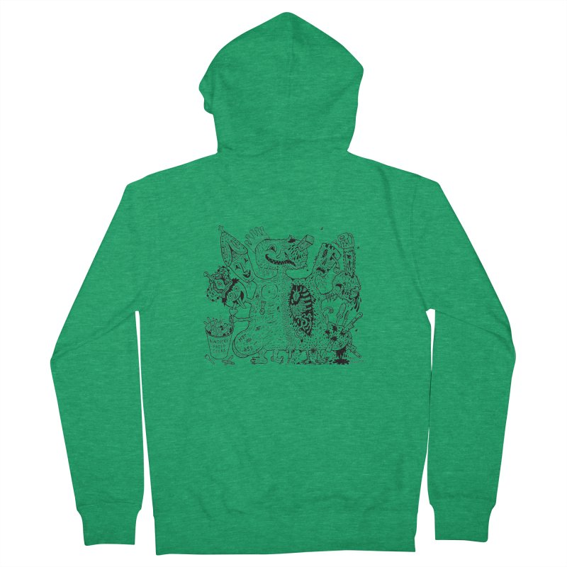 Half-Dead Freak Men's Zip-Up Hoody by Mike Diana T-Shirts! Horrible Ugly Heads Limited E