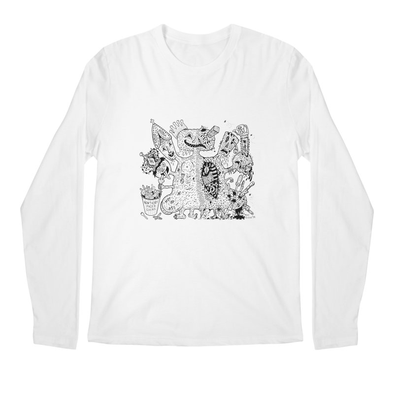 Half-Dead Freak Men's Longsleeve T-Shirt by Mike Diana T-Shirts! Horrible Ugly Heads Limited E