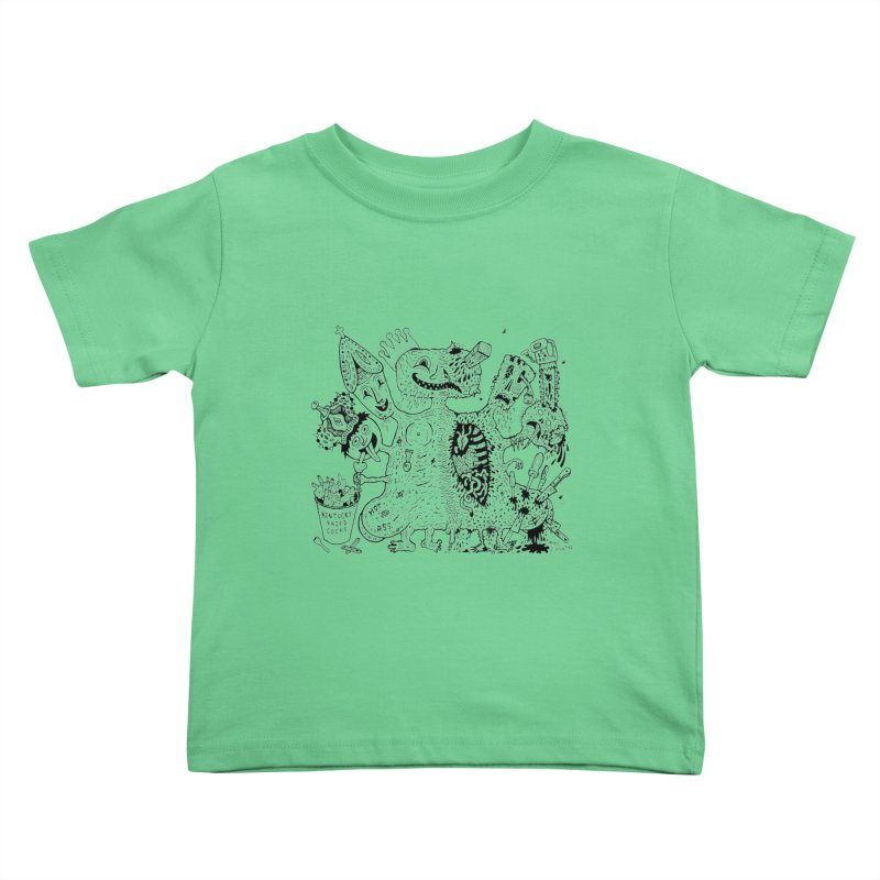 Half-Dead Freak Kids Toddler T-Shirt by Mike Diana T-Shirts! Horrible Ugly Heads Limited E