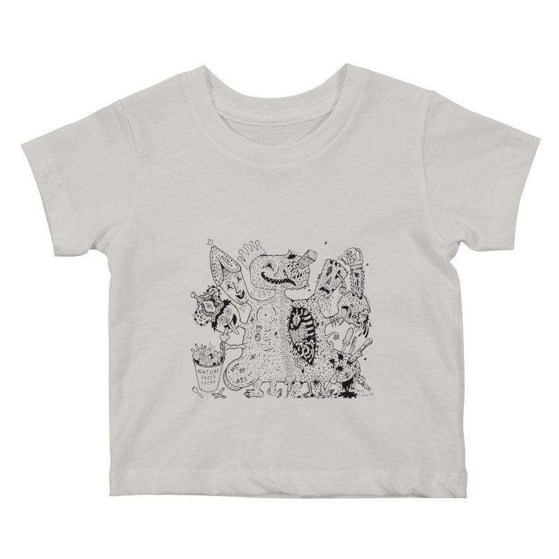 Half-Dead Freak Kids Baby T-Shirt by Mike Diana T-Shirts! Horrible Ugly Heads Limited E