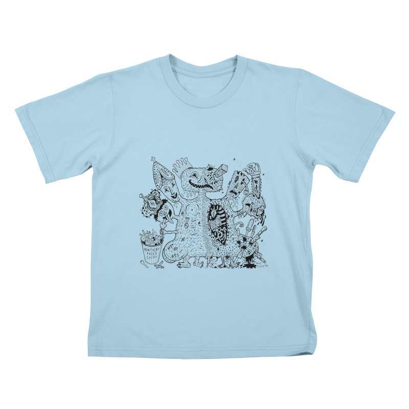 Half-Dead Freak Kids  by Mike Diana T-Shirts! Horrible Ugly Heads Limited E